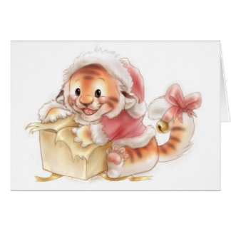 Li'l tiger Christmas card