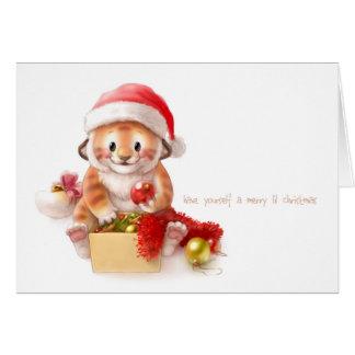 lil tiger christmas card 2010