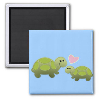 Lil Turtle 2 Inch Square Magnet