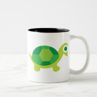 Lil Turtle Guy Two-Tone Coffee Mug