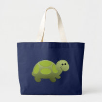 Lil Turtle Large Tote Bag