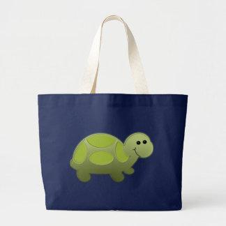 Lil Turtle Large Tote Bag