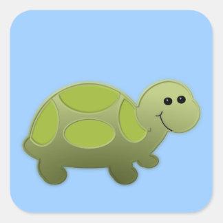Lil Turtle Square Stickers