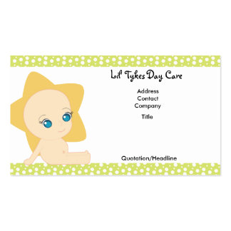 Lil Tykes Day Care Business Cards