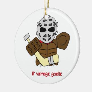 Lil' Vintage Hockey Goalie Ceramic Ornament