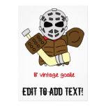 Lil' Vintage Hockey Goalie Invitations