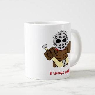 Lil' Vintage Hockey Goalie Large Coffee Mug
