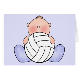 Lil Volleyball Baby Boy Card