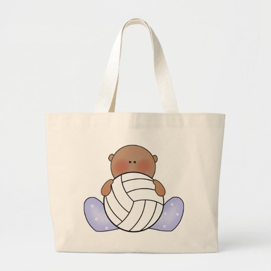 Lil Volleyball Baby Boy - Ethnic Large Tote Bag