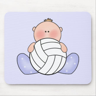 Lil Volleyball Baby Boy Mouse Pads