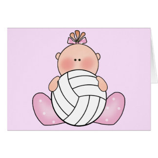 Lil Volleyball Girl Card
