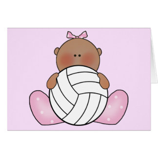 Lil Volleyball Girl - Ethnic Card