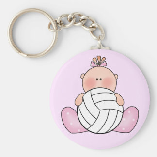Lil Volleyball Girl Keychain