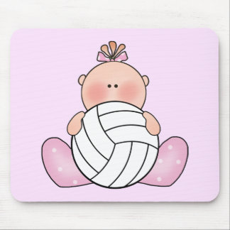 Lil Volleyball Girl Mouse Pad