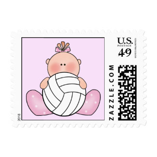 Lil Volleyball Girl Postage Stamp