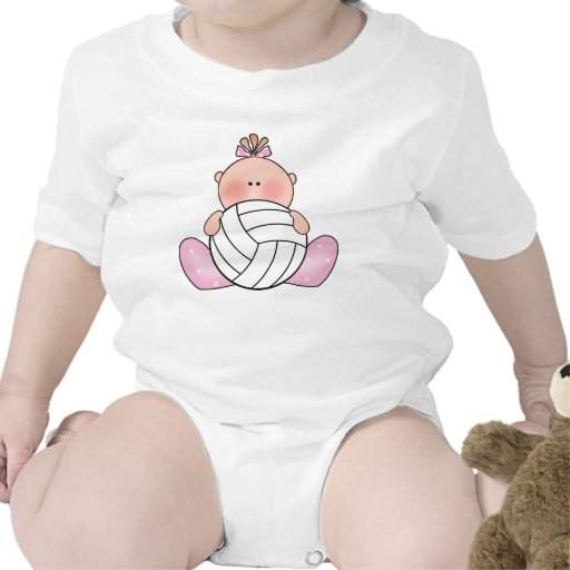 Lil Volleyball Girl Tee Shirts
