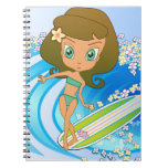 Lil' Wahine Wave Writer Spiral Note Book