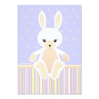 Lil White Bunny Baby Shower Invitation
