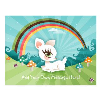 Lil White Deerie Postcard