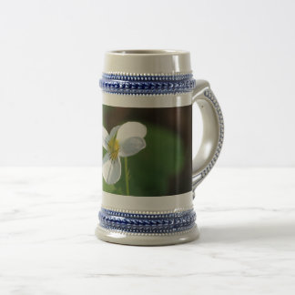 Lil White Flower Beer Stein