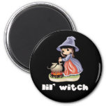 Lil Witch 2 Inch Round Magnet