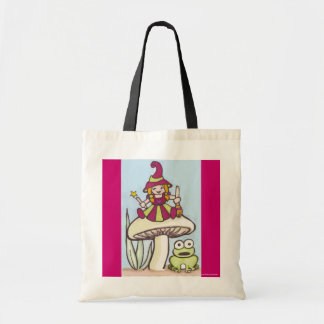 lil witch budget tote bag