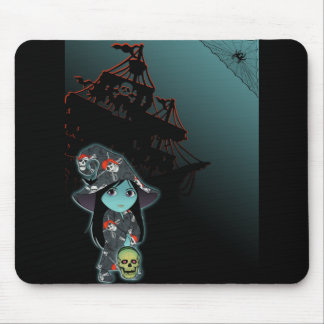 Lil' Witch in Pirate Costume Mouse Pad