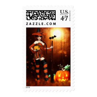 Li'l Witch of All Hallows Postage