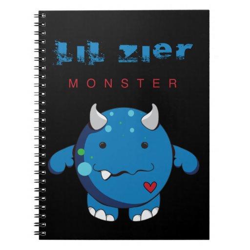 Lil Zier Blue Monster Notebook