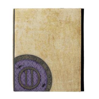 Lila antigua del folio del iPad del monograma U de