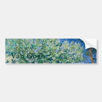 Lila Bush (lilas) por Vincent van Gogh Pegatina Para Auto