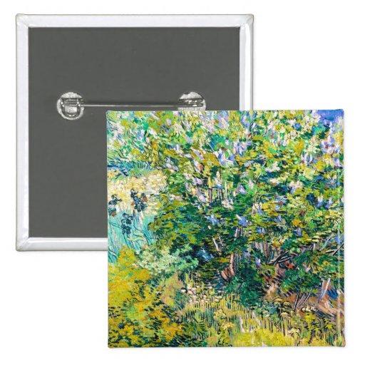 Lila Bush pintando de Vincent van Gogh Pins