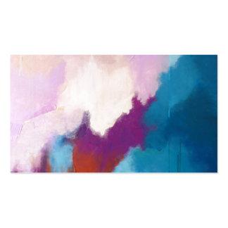 Lila con la pintura abstracta moderna de la aguama tarjetas de visita