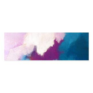 Lila con la pintura abstracta moderna de la tarjetas de visita mini