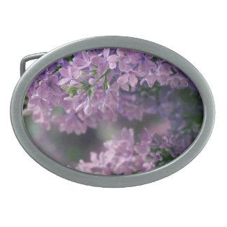 Lila de la flor de la hebilla del cinturón hebilla cinturon oval