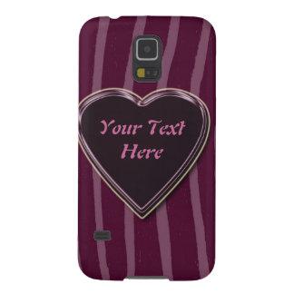 """""""Lila de la piel de la cebra/profundamente/rosa """" Fundas De Galaxy S5"""