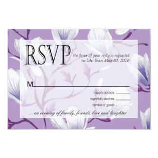"""Lila de la uva de RSVP el   del jardín de flores Invitación 3.5"""" X 5"""""""
