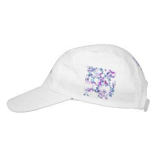 lila del blanco de la salpicadura gorras de alto rendimiento