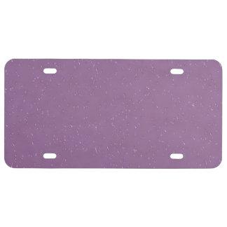 lila del día lluvioso 14216 (i) placa de matrícula