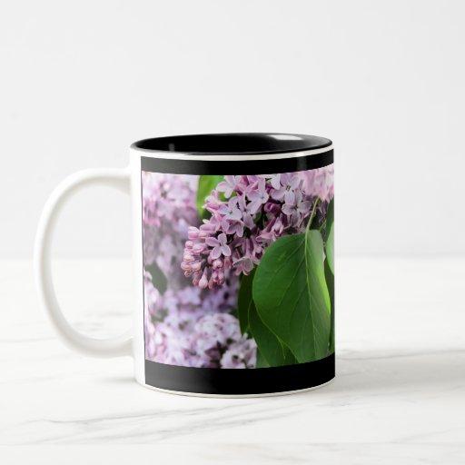 Lila hermosa taza de dos tonos