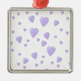 Lila ligera y modelo blanco de los corazones del adornos