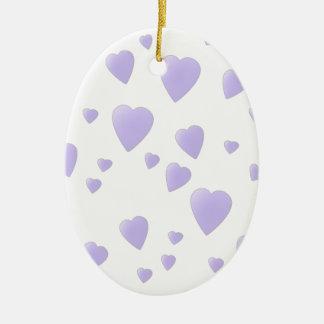 Lila ligera y modelo blanco de los corazones del ornaments para arbol de navidad