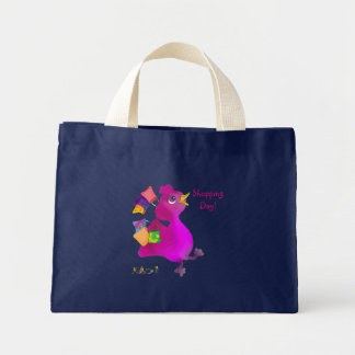 Lila loves Snowboarding by The Happy Juul Company Mini Tote Bag