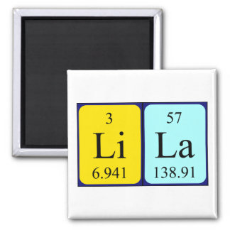 Lila periodic table name magnet