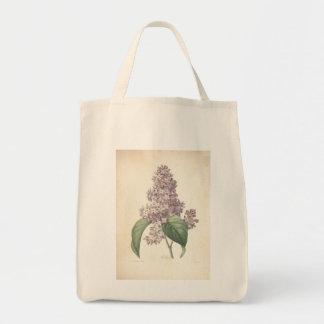 Lila por Redoute - bolsos del vintage de Bolsa Tela Para La Compra