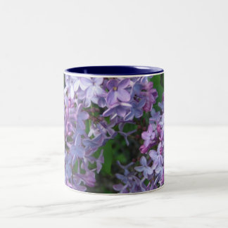 lila preciosa taza de café de dos colores