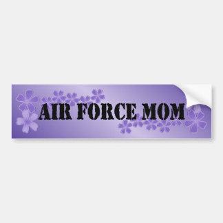 Lila profunda de la mamá de la fuerza aérea etiqueta de parachoque
