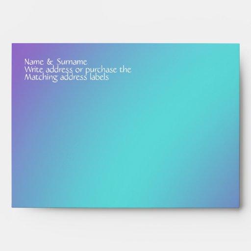 Lila púrpura azul de las estrellas de mar de la pl sobres