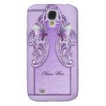 Lila púrpura bonita de la lavanda de la mariposa