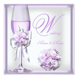 Lila púrpura Champán 2 de la lavanda elegante del Comunicados Personales